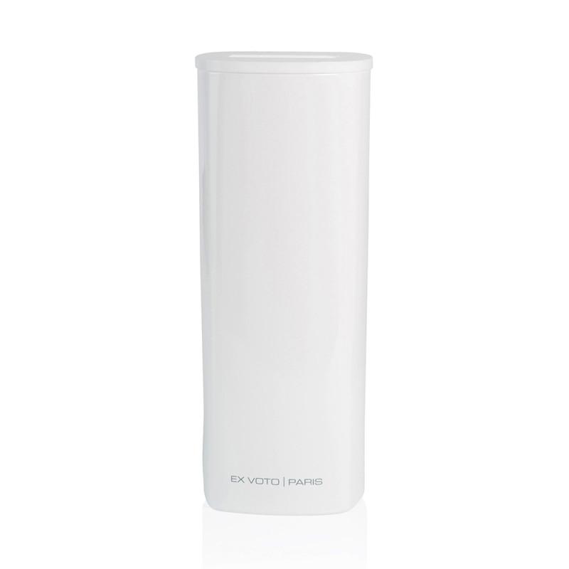Vase blanc brillant